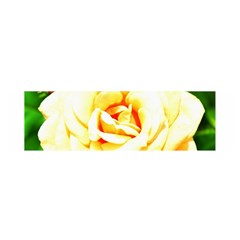 Orange Yellow Rose Satin Scarf (oblong)