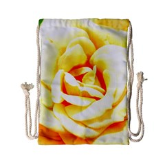 Orange Yellow Rose Drawstring Bag (Small)