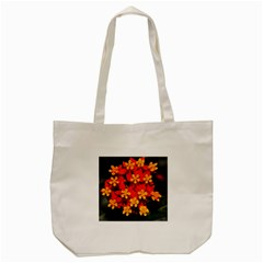 Orange and Red Weed Tote Bag (Cream)