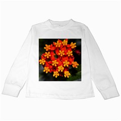 Orange And Red Weed Kids Long Sleeve T Shirts