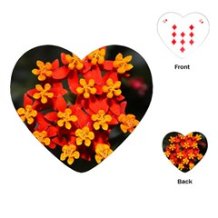 Orange And Red Weed Playing Cards (heart)