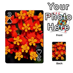 Orange And Red Weed Playing Cards 54 Designs