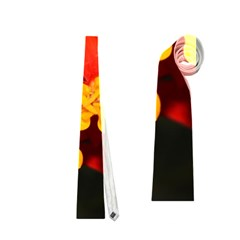 Orange And Red Weed Neckties (two Side)