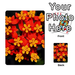 Orange and Red Weed Multi-purpose Cards (Rectangle)