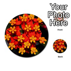 Orange and Red Weed Multi-purpose Cards (Round)