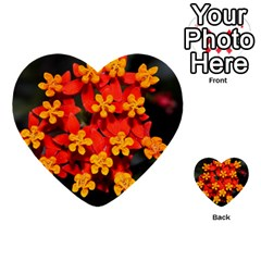 Orange And Red Weed Multi Purpose Cards (heart)