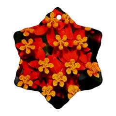Orange and Red Weed Snowflake Ornament (2-Side)