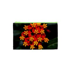 Orange And Red Weed Cosmetic Bag (xs)