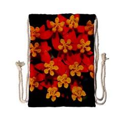 Orange and Red Weed Drawstring Bag (Small)