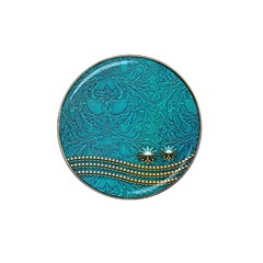 Wonderful Decorative Design With Floral Elements Hat Clip Ball Marker (4 Pack)
