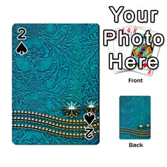 Wonderful Decorative Design With Floral Elements Playing Cards 54 Designs