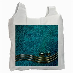 Wonderful Decorative Design With Floral Elements Recycle Bag (two Side)