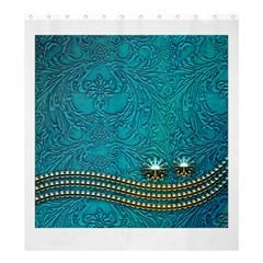 Wonderful Decorative Design With Floral Elements Shower Curtain 66  x 72  (Large)