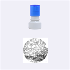 Wonderful Decorative Design With Floral Elements Rubber Round Stamps (small)