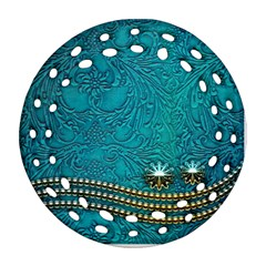 Wonderful Decorative Design With Floral Elements Ornament (Round Filigree)