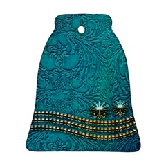Wonderful Decorative Design With Floral Elements Bell Ornament (2 Sides)