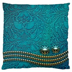 Wonderful Decorative Design With Floral Elements Large Cushion Cases (one Side)