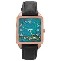 Wonderful Decorative Design With Floral Elements Rose Gold Watches