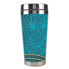 Wonderful Decorative Design With Floral Elements Stainless Steel Travel Tumblers