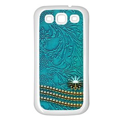 Wonderful Decorative Design With Floral Elements Samsung Galaxy S3 Back Case (white)