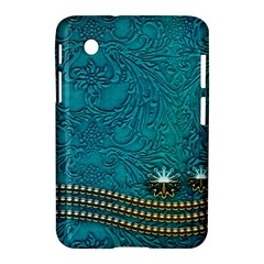 Wonderful Decorative Design With Floral Elements Samsung Galaxy Tab 2 (7 ) P3100 Hardshell Case