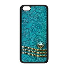 Wonderful Decorative Design With Floral Elements Apple Iphone 5c Seamless Case (black)