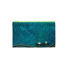 Wonderful Decorative Design With Floral Elements Cosmetic Bag (xs)