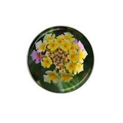 Colorful Flowers Hat Clip Ball Marker (10 Pack)