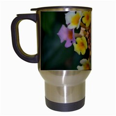 Colorful Flowers Travel Mugs (white)