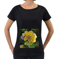 Colorful Flowers Women s Loose-Fit T-Shirt (Black)