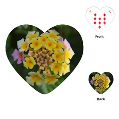 Colorful Flowers Playing Cards (heart)