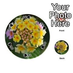 Colorful Flowers Playing Cards 54 (Round)