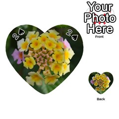 Colorful Flowers Playing Cards 54 (Heart)