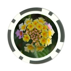 Colorful Flowers Poker Chip Card Guards