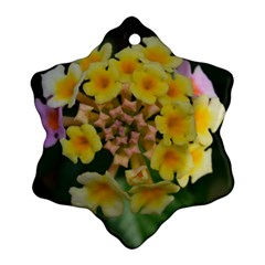 Colorful Flowers Ornament (snowflake)
