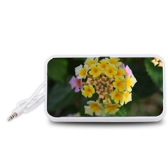 Colorful Flowers Portable Speaker (White)