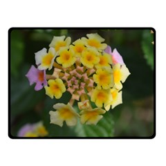 Colorful Flowers Double Sided Fleece Blanket (Small)