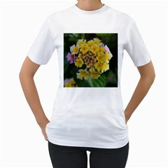 Colorful Flowers Women s T Shirt (white)