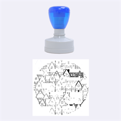 House 001 Rubber Round Stamps (medium)