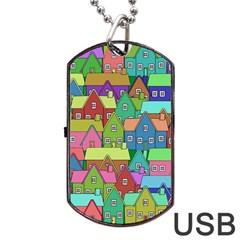 House 001 Dog Tag USB Flash (One Side)