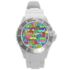 House 001 Round Plastic Sport Watch (l)