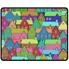 House 001 Double Sided Fleece Blanket (Medium)