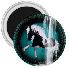 Beautiful Horse With Water Splash  3  Magnets