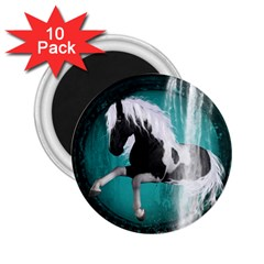 Beautiful Horse With Water Splash  2 25  Magnets (10 Pack)