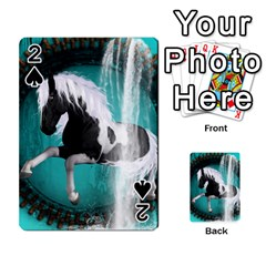 Beautiful Horse With Water Splash  Playing Cards 54 Designs