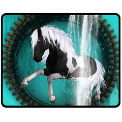 Beautiful Horse With Water Splash  Fleece Blanket (Medium)