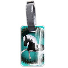 Beautiful Horse With Water Splash  Luggage Tags (one Side)