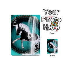 Beautiful Horse With Water Splash  Playing Cards 54 (mini)