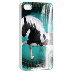 Beautiful Horse With Water Splash  Apple Iphone 4/4s Seamless Case (white)