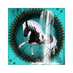 Beautiful Horse With Water Splash  Acrylic Tangram Puzzle (6  X 6 )